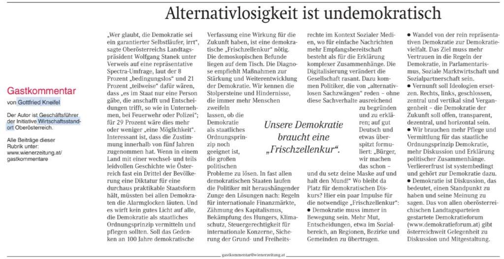 """""""Unsere Demokratie braucht eine Frischzellenkur"""" Medienecho…"""